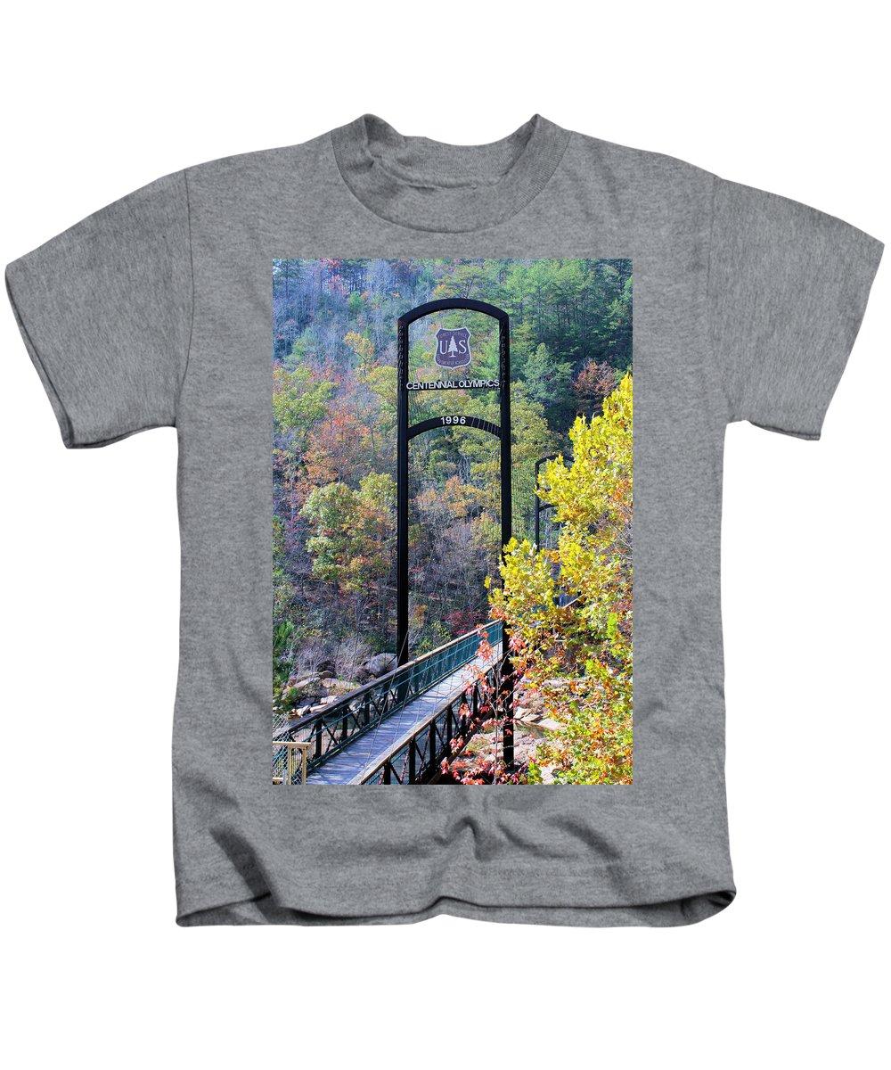 Olympics Location Kids T-Shirt featuring the photograph Centennial Olympics 1996 by Kristin Elmquist