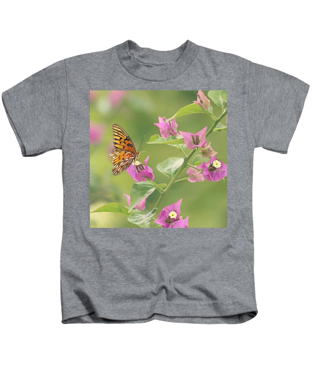 Butterfly Kids T-Shirt featuring the photograph Chance Encounter by Kim Hojnacki