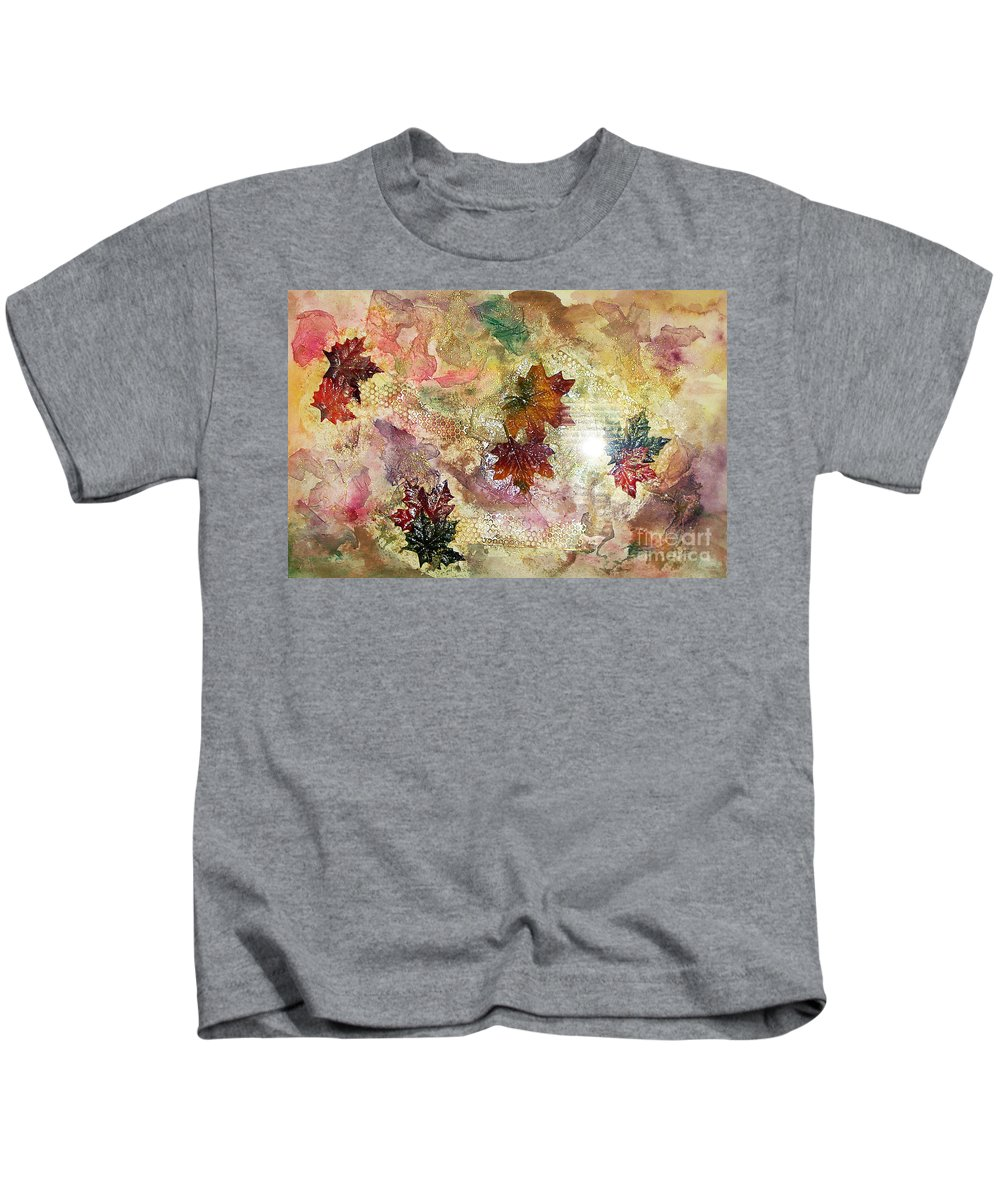 Water Color Abstract Kids T-Shirt featuring the mixed media Change In You II by Yael VanGruber
