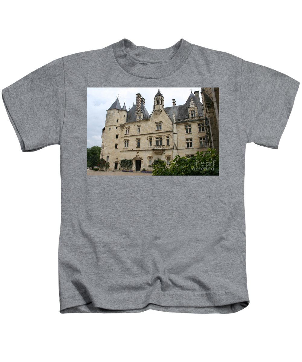 Palace Kids T-Shirt featuring the photograph Chateau Usse by Christiane Schulze Art And Photography