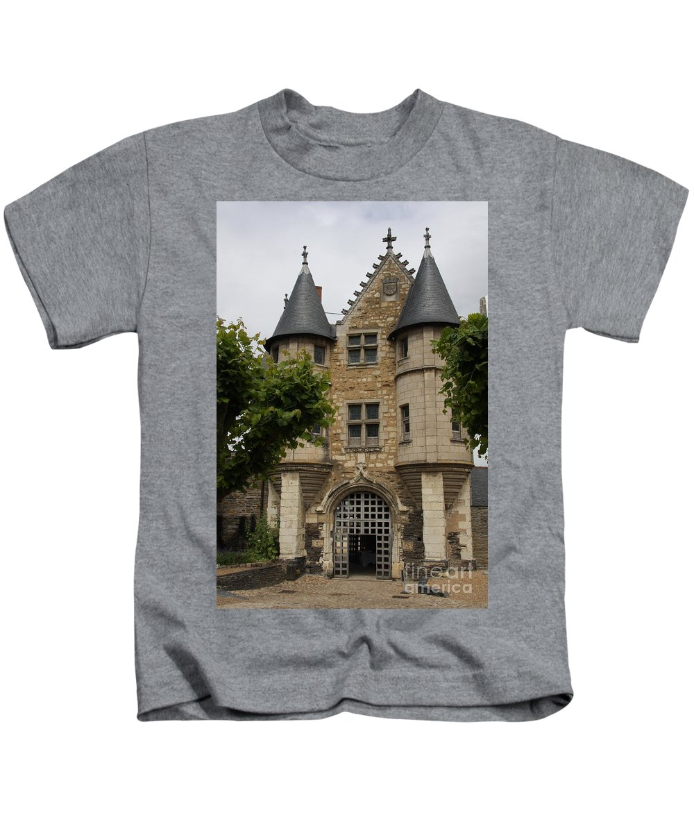 Castle Kids T-Shirt featuring the photograph Chatelet - Chateau D'angers by Christiane Schulze Art And Photography