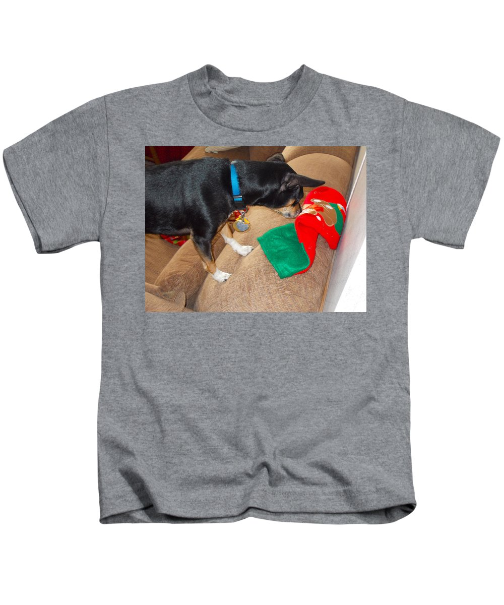 Kids T-Shirt featuring the photograph Looking For His Gifts by Chris W Photography AKA Christian Wilson
