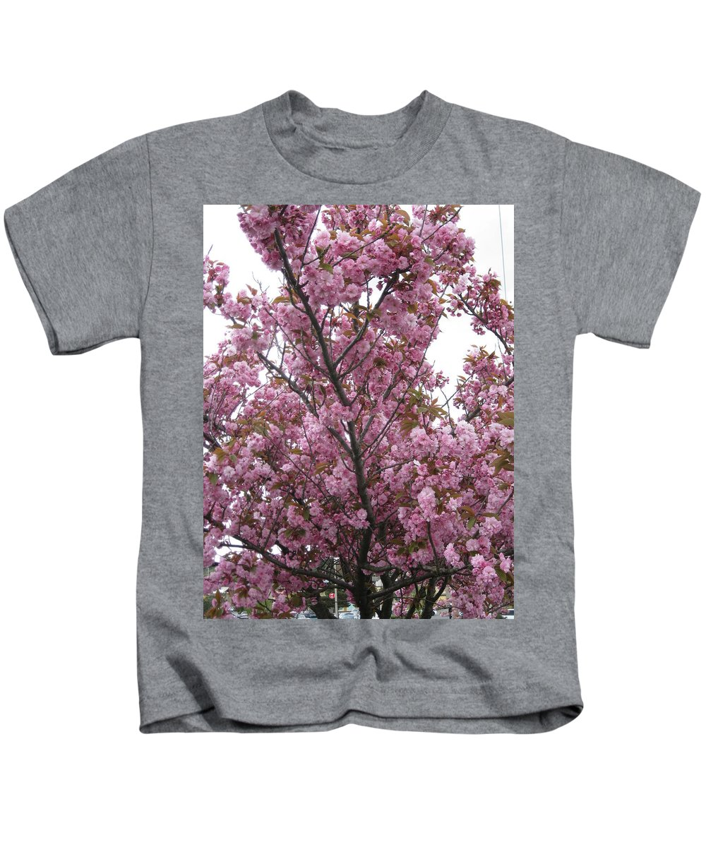 Cherry Blossoms Kids T-Shirt featuring the photograph Cherry Blossoms 2 by David Trotter