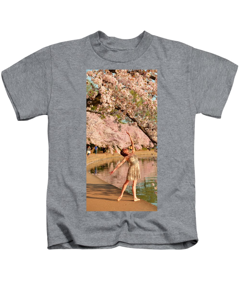 Architectural Kids T-Shirt featuring the photograph Cherry Blossoms 2013 - 077 by Metro DC Photography