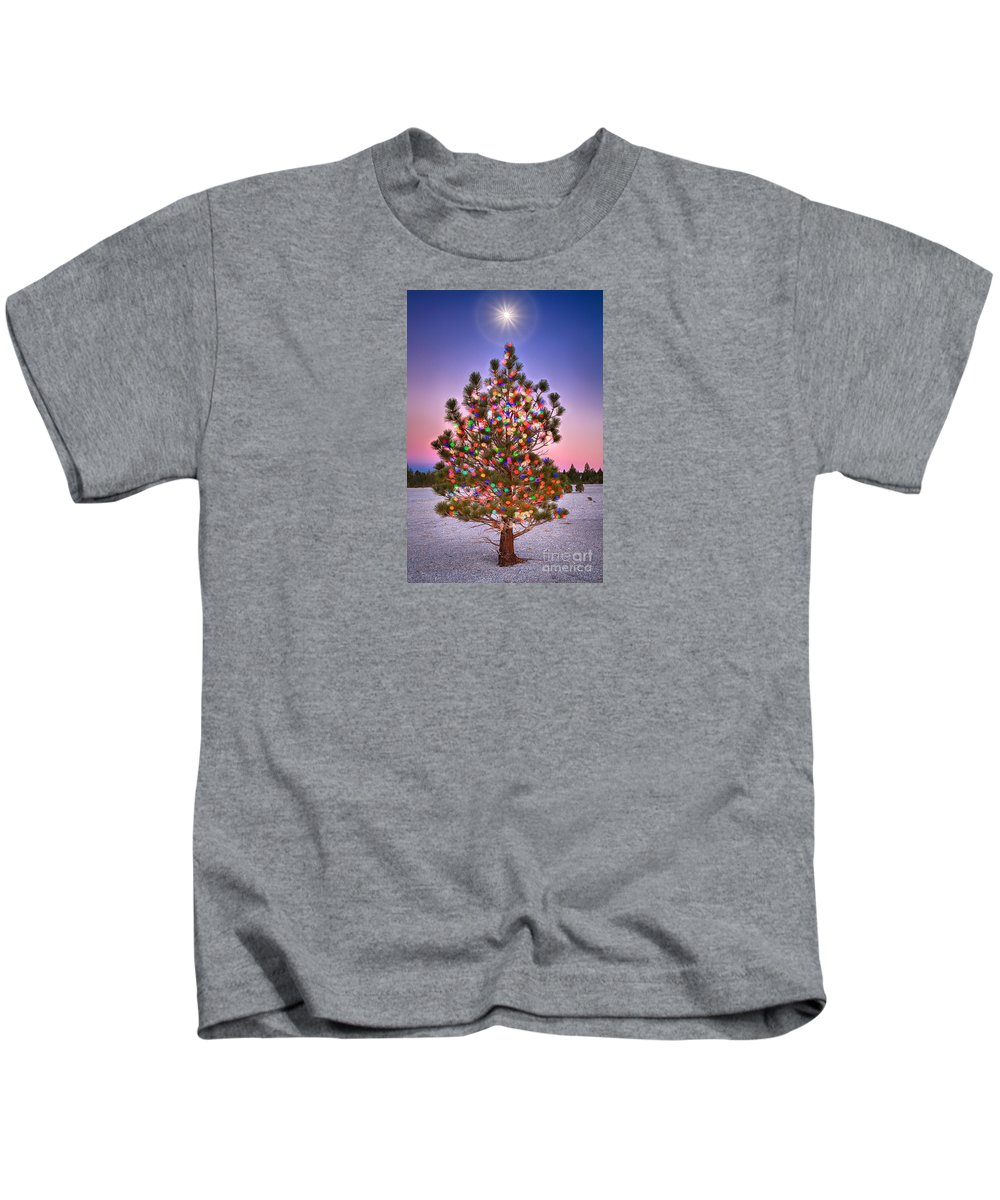Blue Kids T-Shirt featuring the photograph Christmas Dream by Alice Cahill