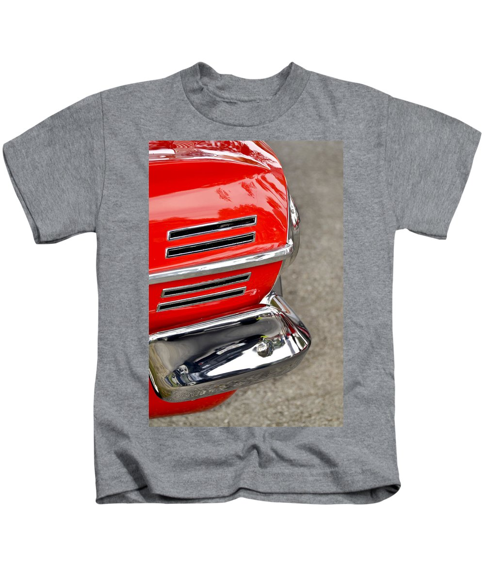 Automobile Kids T-Shirt featuring the photograph Classic Impala In Red by Carolyn Marshall