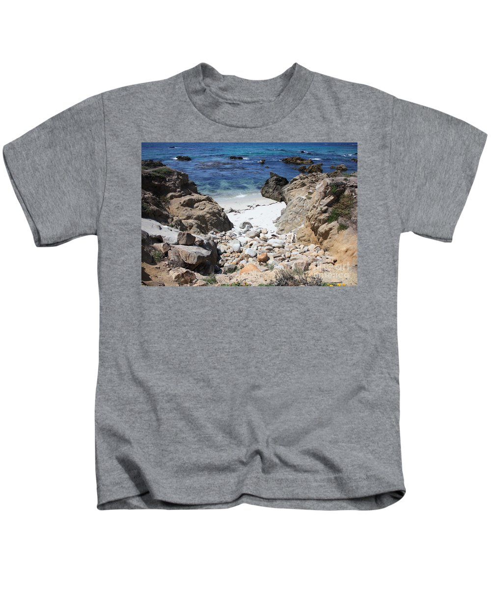 Landscape Kids T-Shirt featuring the photograph Clear California Cove by Carol Groenen
