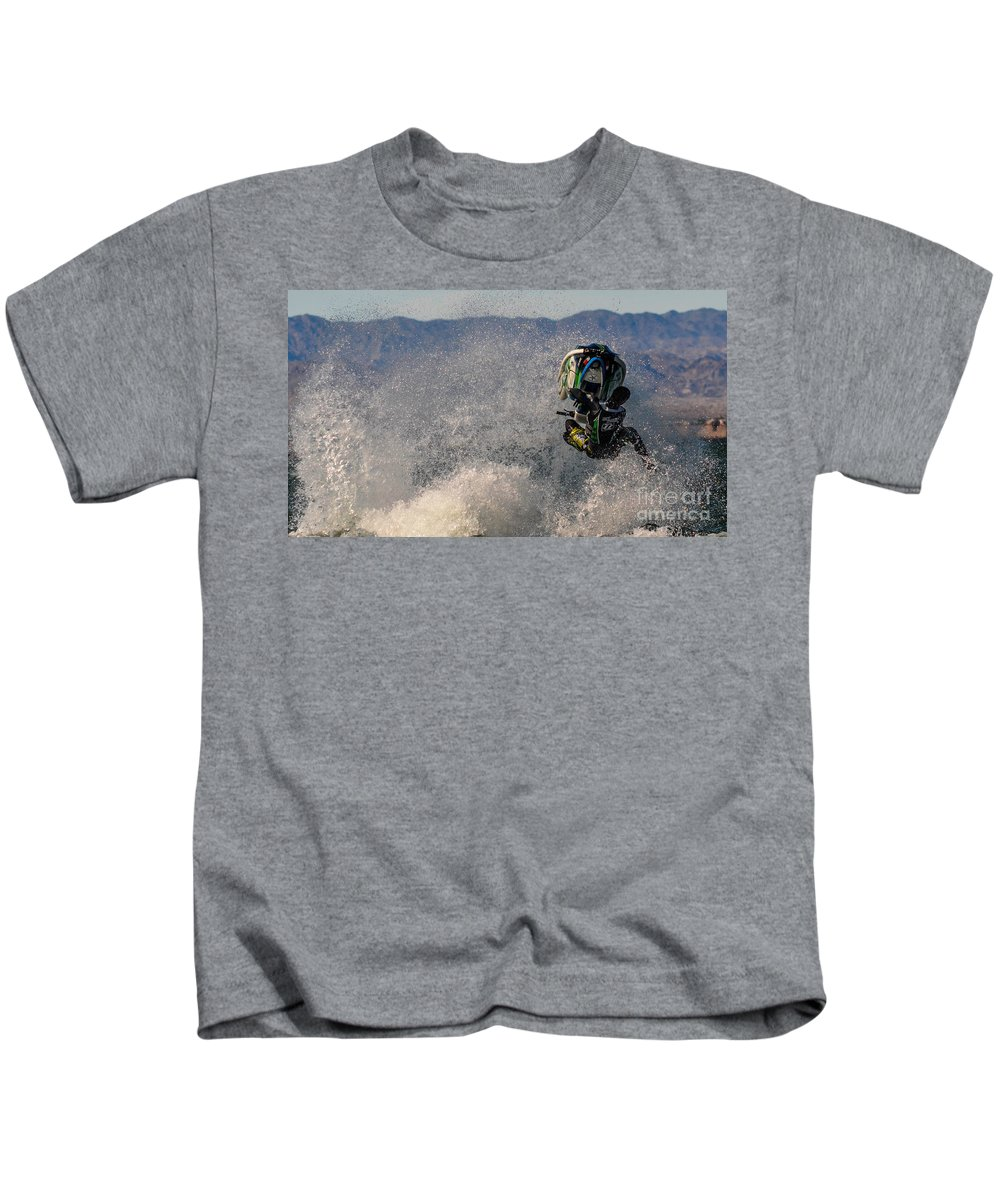 Jet Ski. Jetski Kids T-Shirt featuring the photograph Cleared For Take Off by Joy McAdams