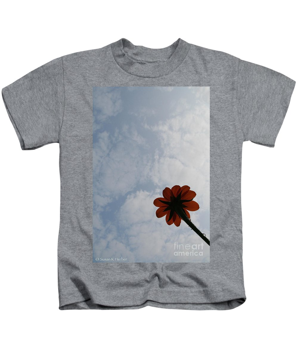 Flower Kids T-Shirt featuring the photograph Clearing Skies by Susan Herber