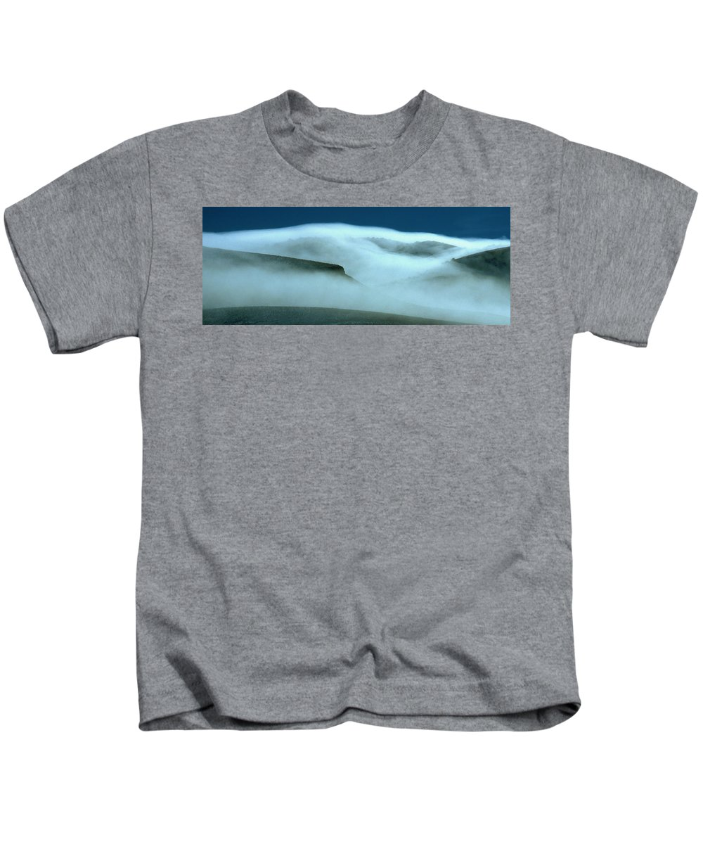 Mountains Kids T-Shirt featuring the photograph Cloud Mountain by Ed Riche