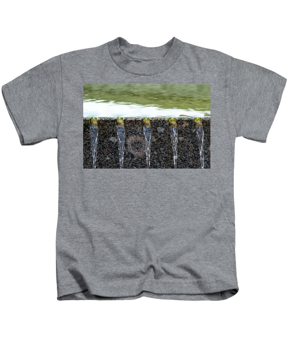 Abstract Kids T-Shirt featuring the photograph Cold And Clear Water - Featured 3 by Alexander Senin