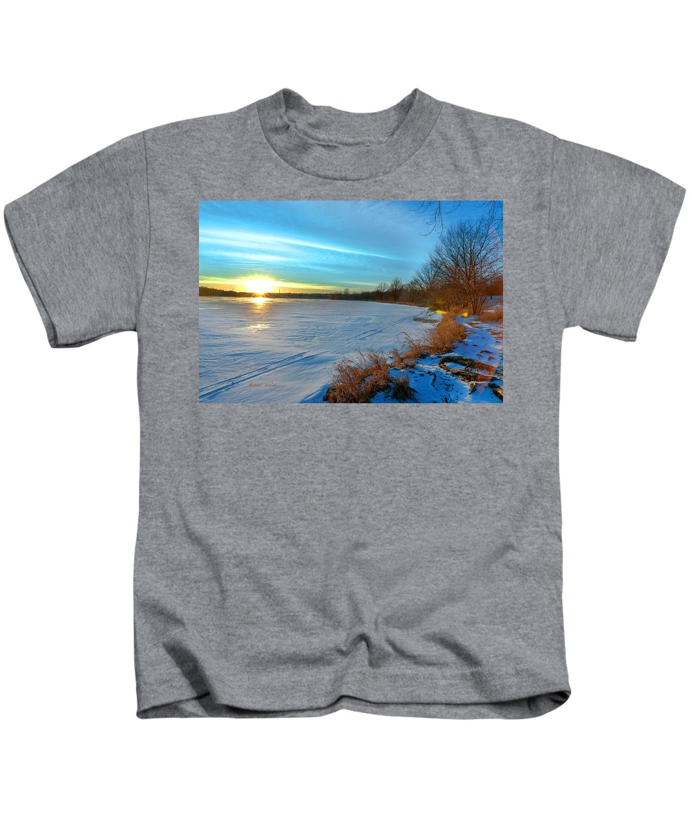 Winter Scene Kids T-Shirt featuring the photograph Color Burst by Edward Peterson