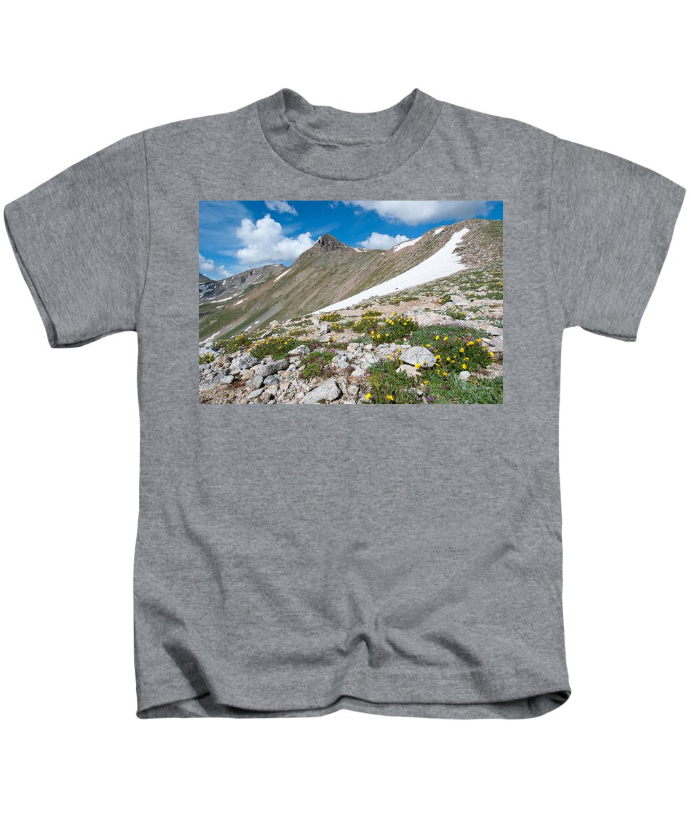 Colorado Kids T-Shirt featuring the photograph Colorado Elkhead Pass by Cascade Colors