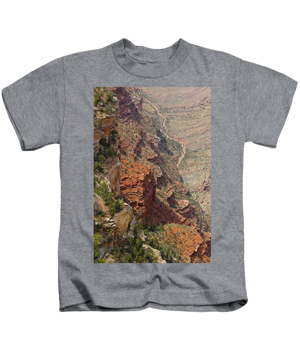 Grand Canyon Kids T-Shirt featuring the photograph Colorado River In The Grand Canyon by Denise Mazzocco