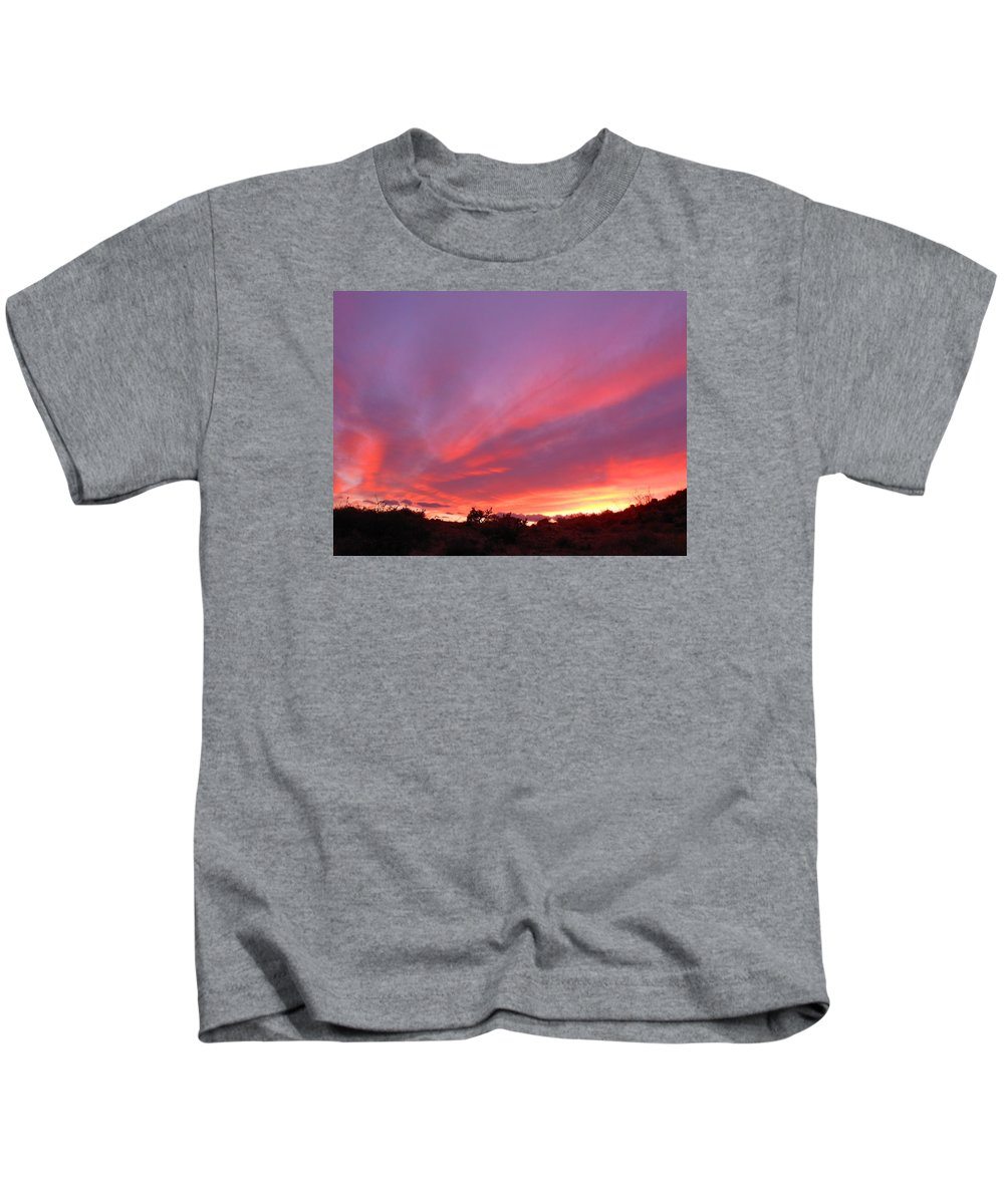 Landscape Kids T-Shirt featuring the photograph Colourful Arizona Sunset by James Welch