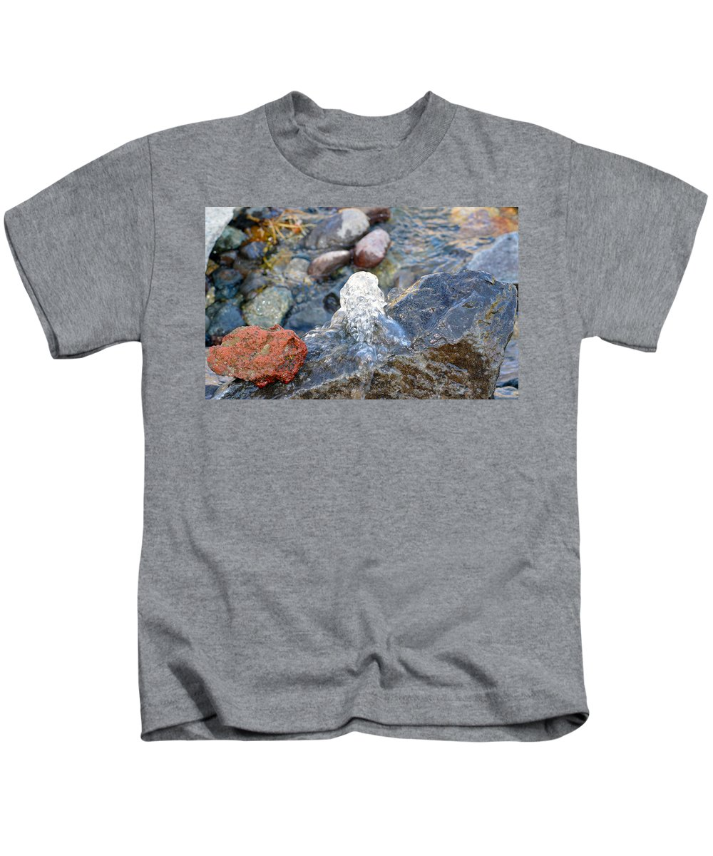 Water Kids T-Shirt featuring the photograph Come Gurgling Out by Brent Dolliver