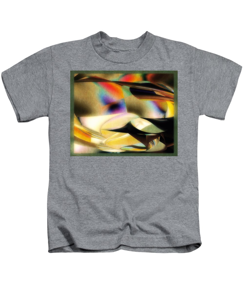 Abstract Kids T-Shirt featuring the digital art Concerto by Diane Dugas