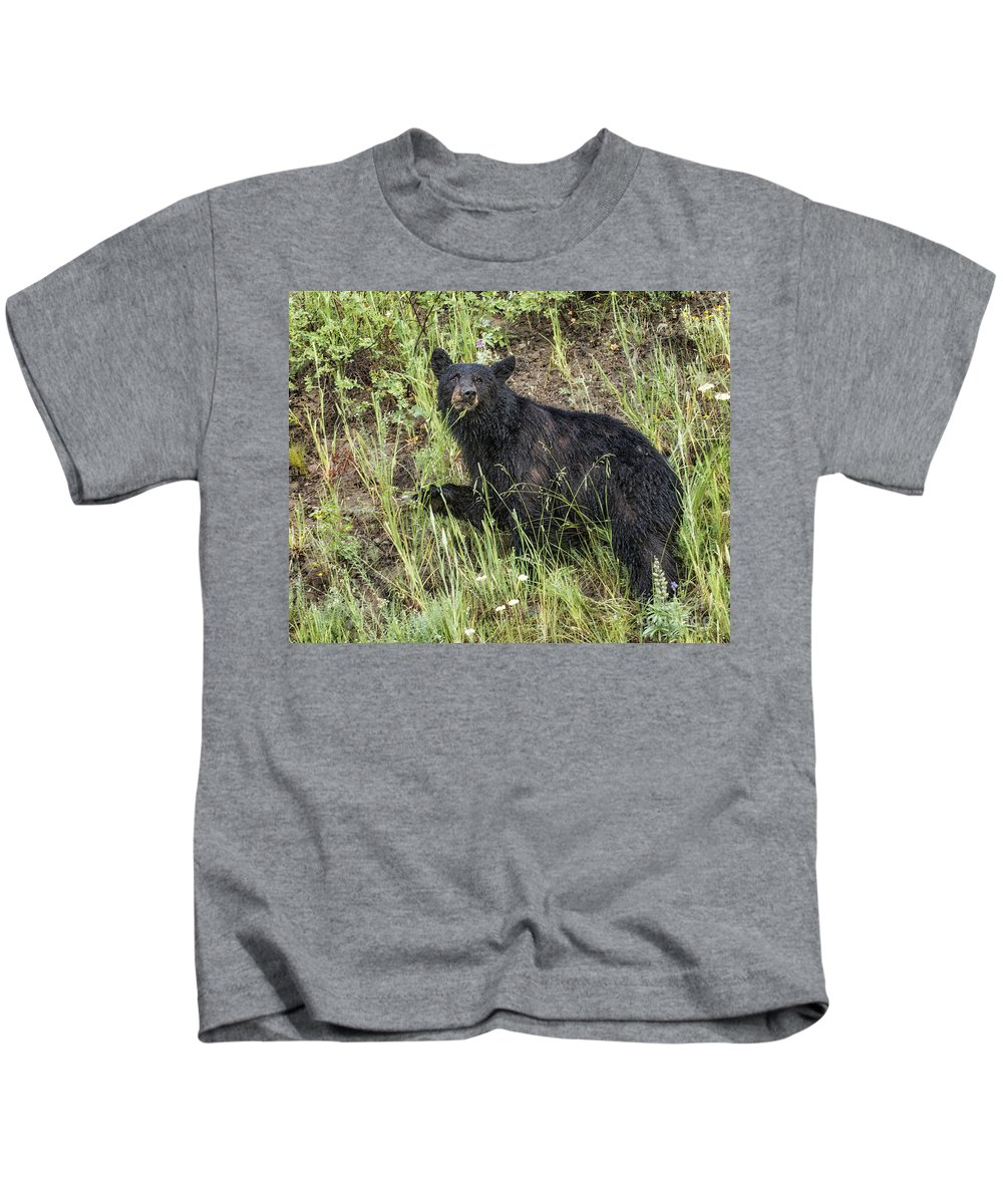 Bear Kids T-Shirt featuring the photograph Contemplation by Claudia Kuhn