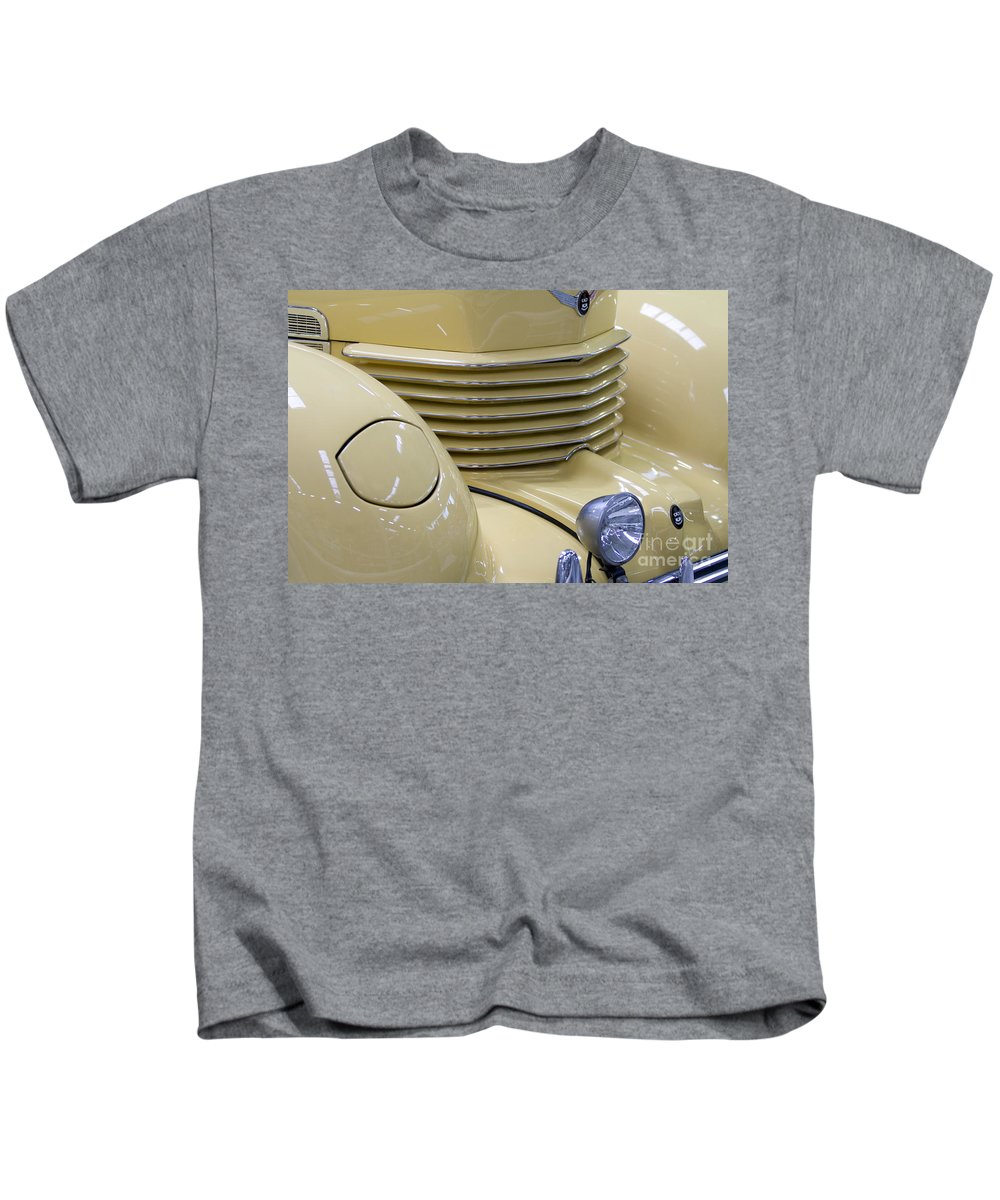 Heiko Kids T-Shirt featuring the photograph Cord 812 Oldtimer From 1937 Grill by Heiko Koehrer-Wagner