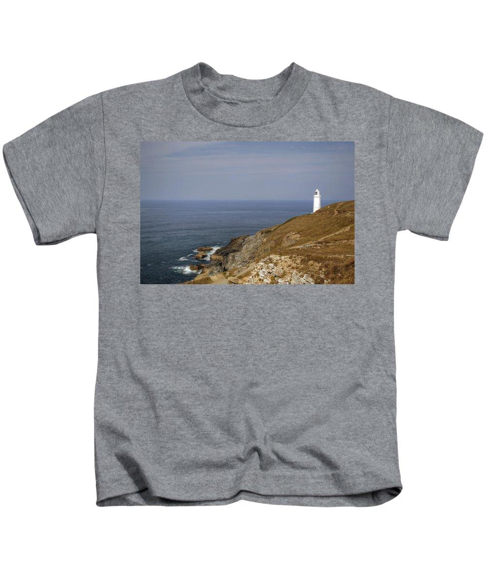Trevose Head Kids T-Shirt featuring the photograph Cornwall - Trevose Head by Joana Kruse