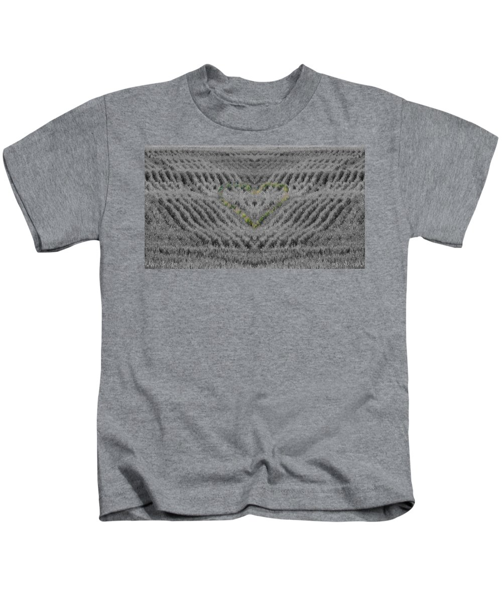 Country Heart Kids T-Shirt featuring the photograph Country Heart by Dan Sproul