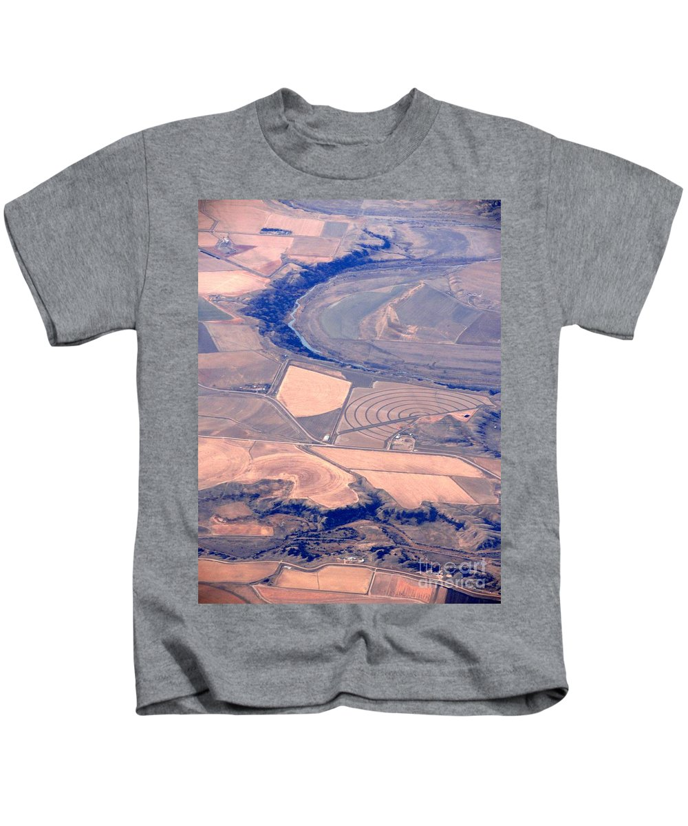 Crop Circles Kids T-Shirt featuring the photograph Crop Circle by Anthony Wilkening