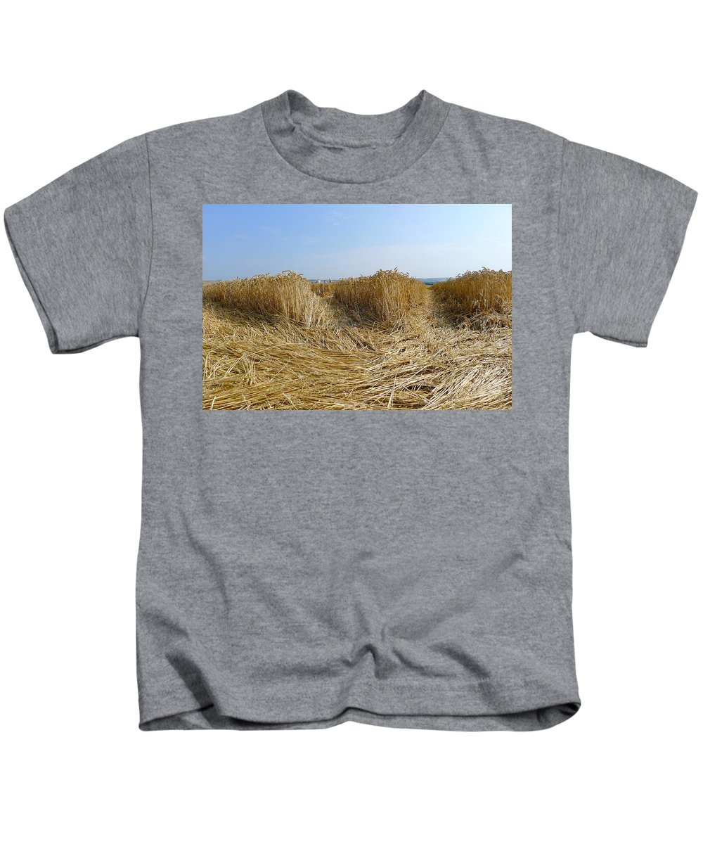 Crop Kids T-Shirt featuring the photograph Crop Circle Close-up by Denise Mazzocco