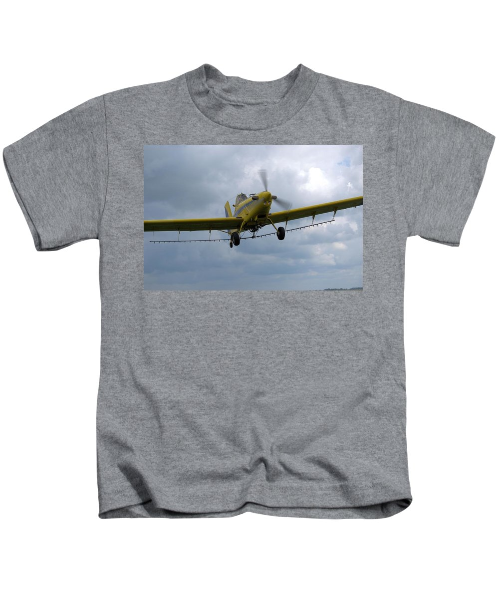 Airplane Kids T-Shirt featuring the photograph Crop Duster by Bonfire Photography