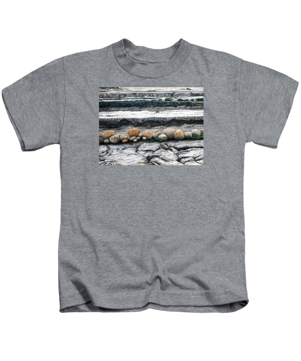 Australia Kids T-Shirt featuring the painting Cushion Bush Dam by Lyndsey Hatchwell