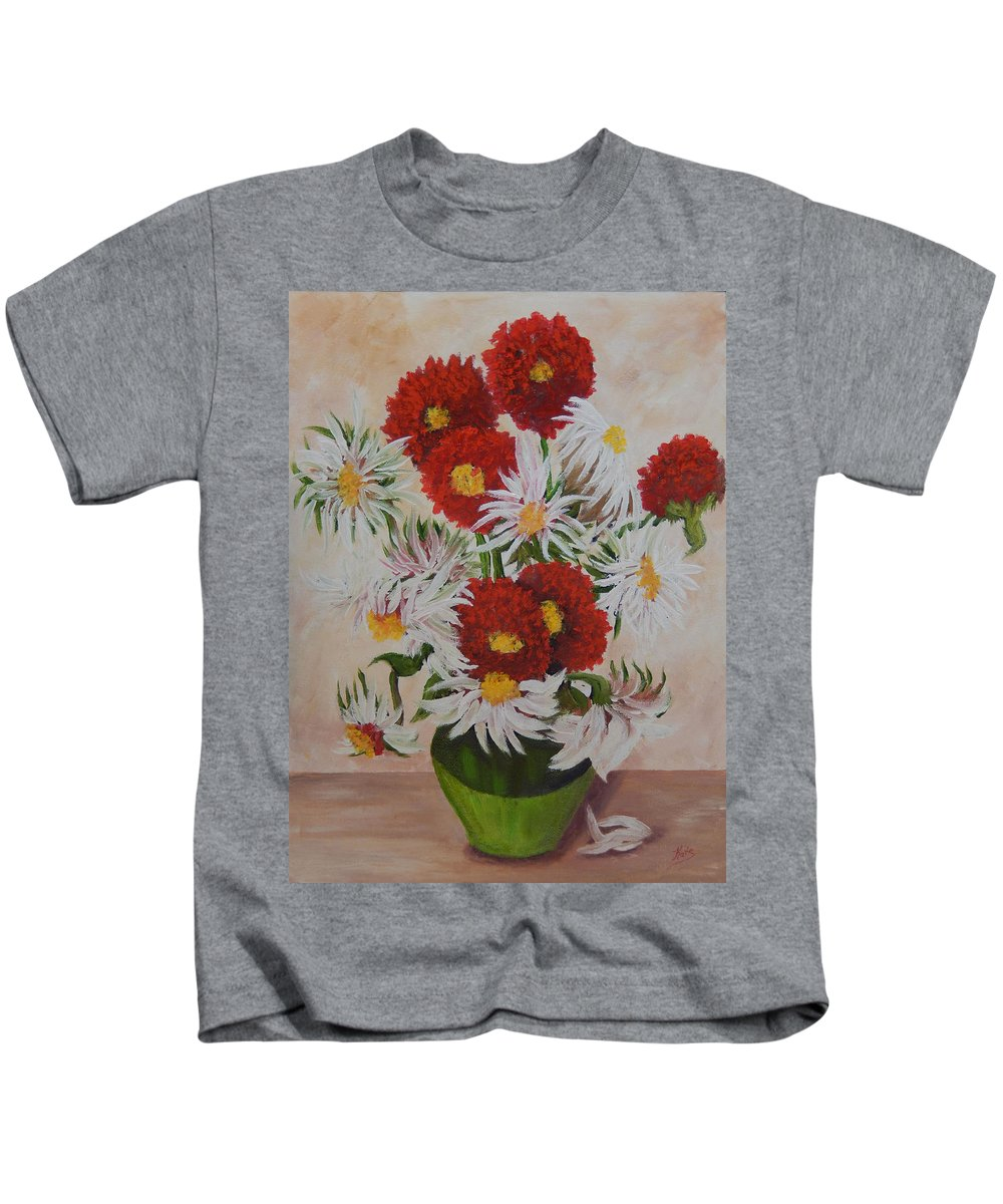 Daisy Kids T-Shirt featuring the painting Daisy Mae by Kathy Przepadlo