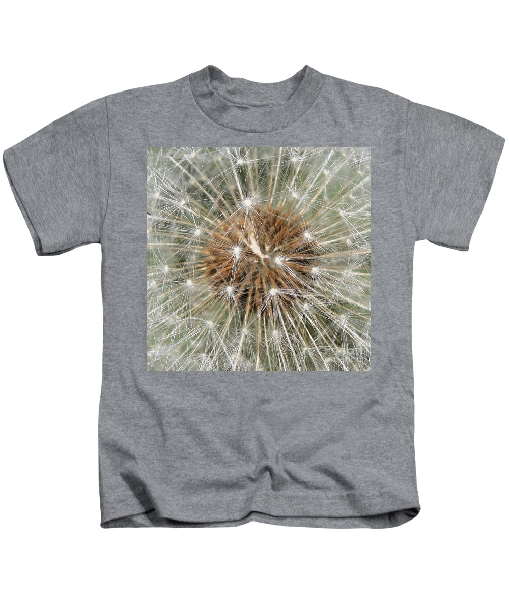 Dandelion Kids T-Shirt featuring the photograph Dandelion Square by Carol Groenen