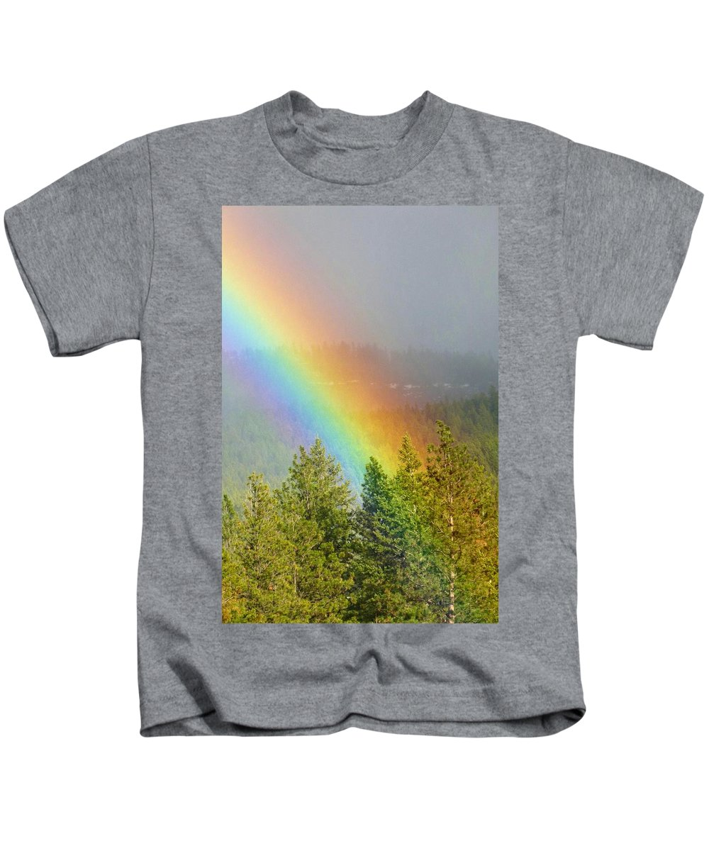 Dazzling Rainbow Kids T-Shirt featuring the photograph Dazzling Rainbow by Will Borden