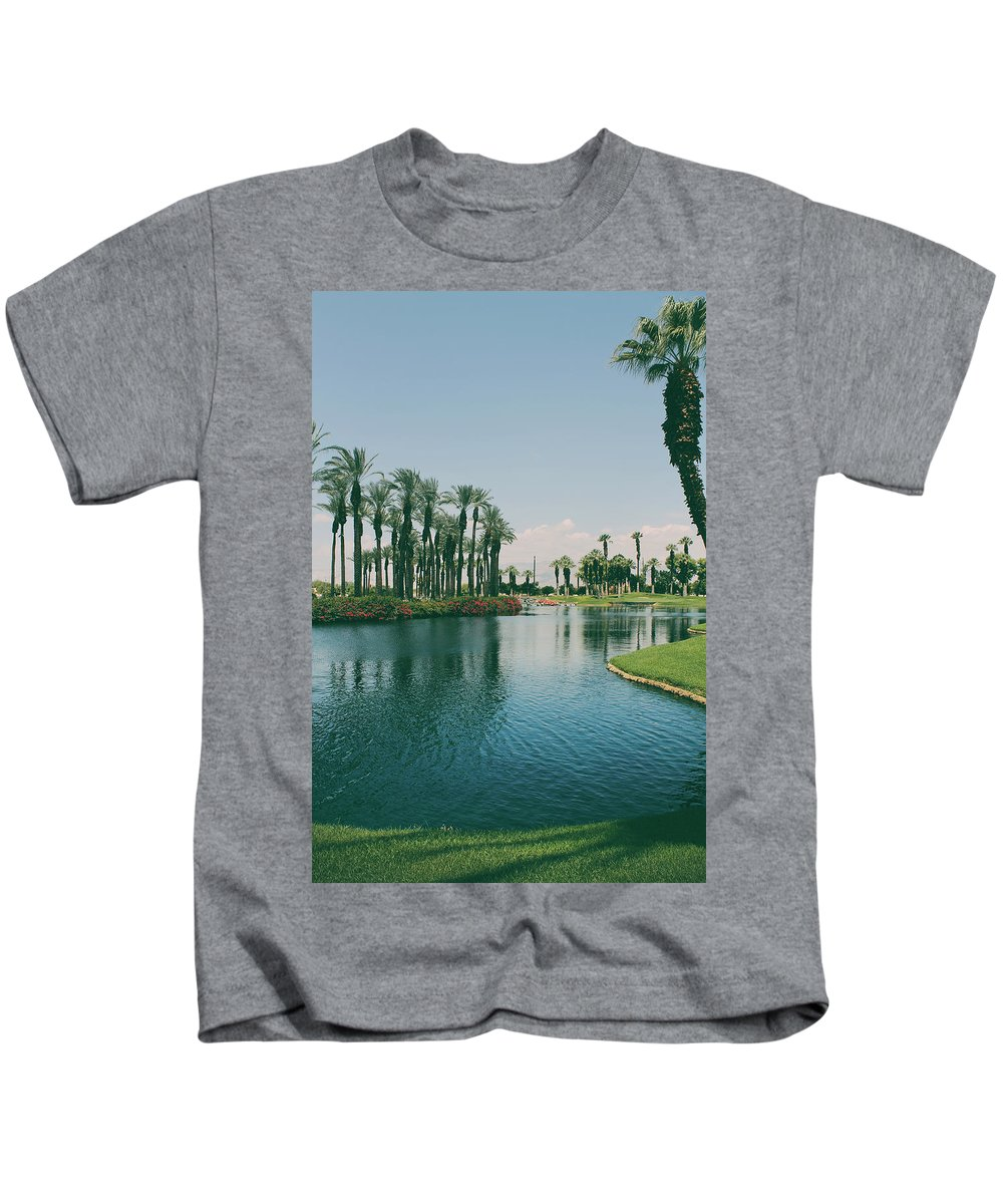 Palm Desert Kids T-Shirt featuring the photograph Deep Breath And Sigh by Laurie Search