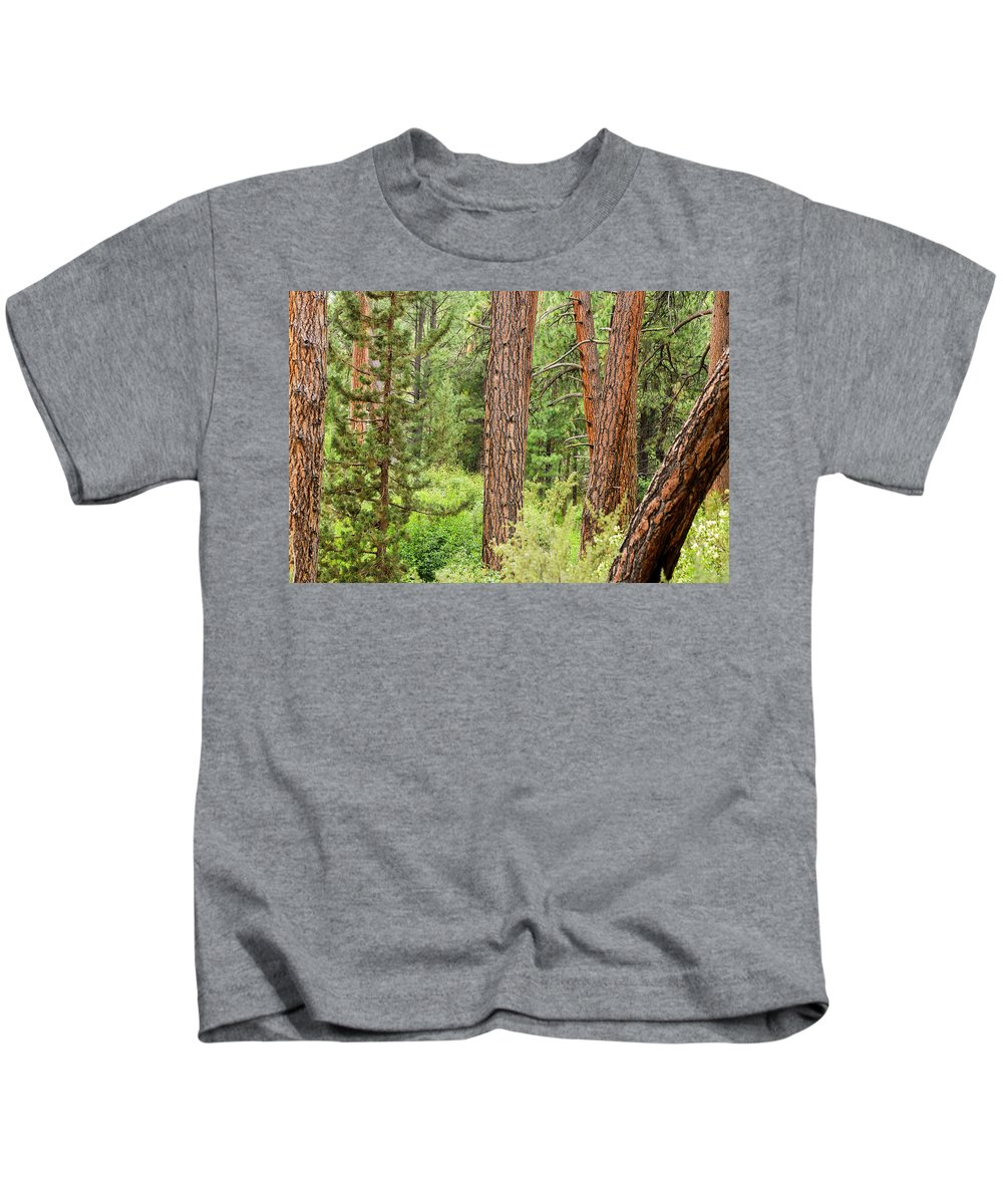 Forest Kids T-Shirt featuring the photograph Dense Forest View by Jess Kraft