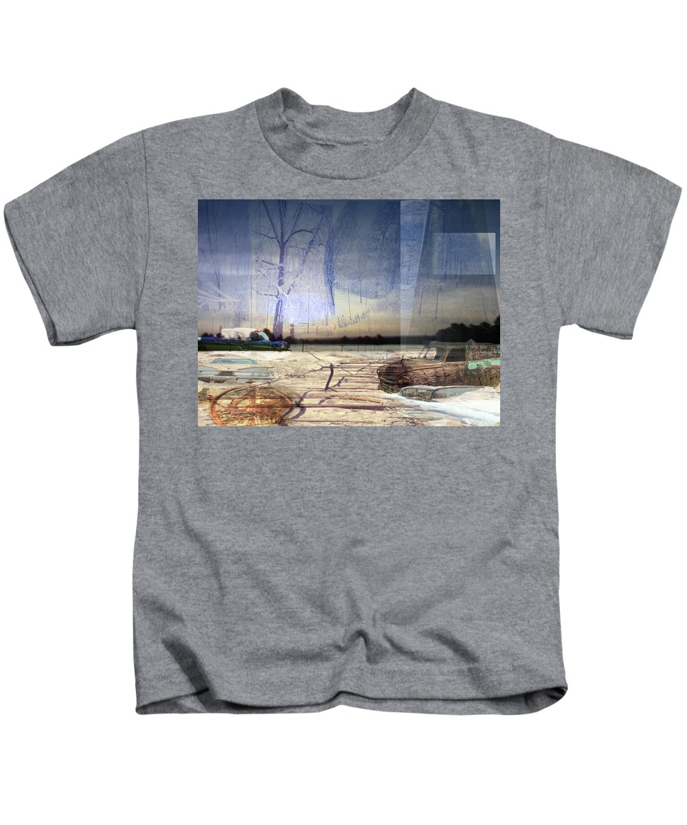 Desert Kids T-Shirt featuring the digital art Desert Tracks by Cathy Anderson