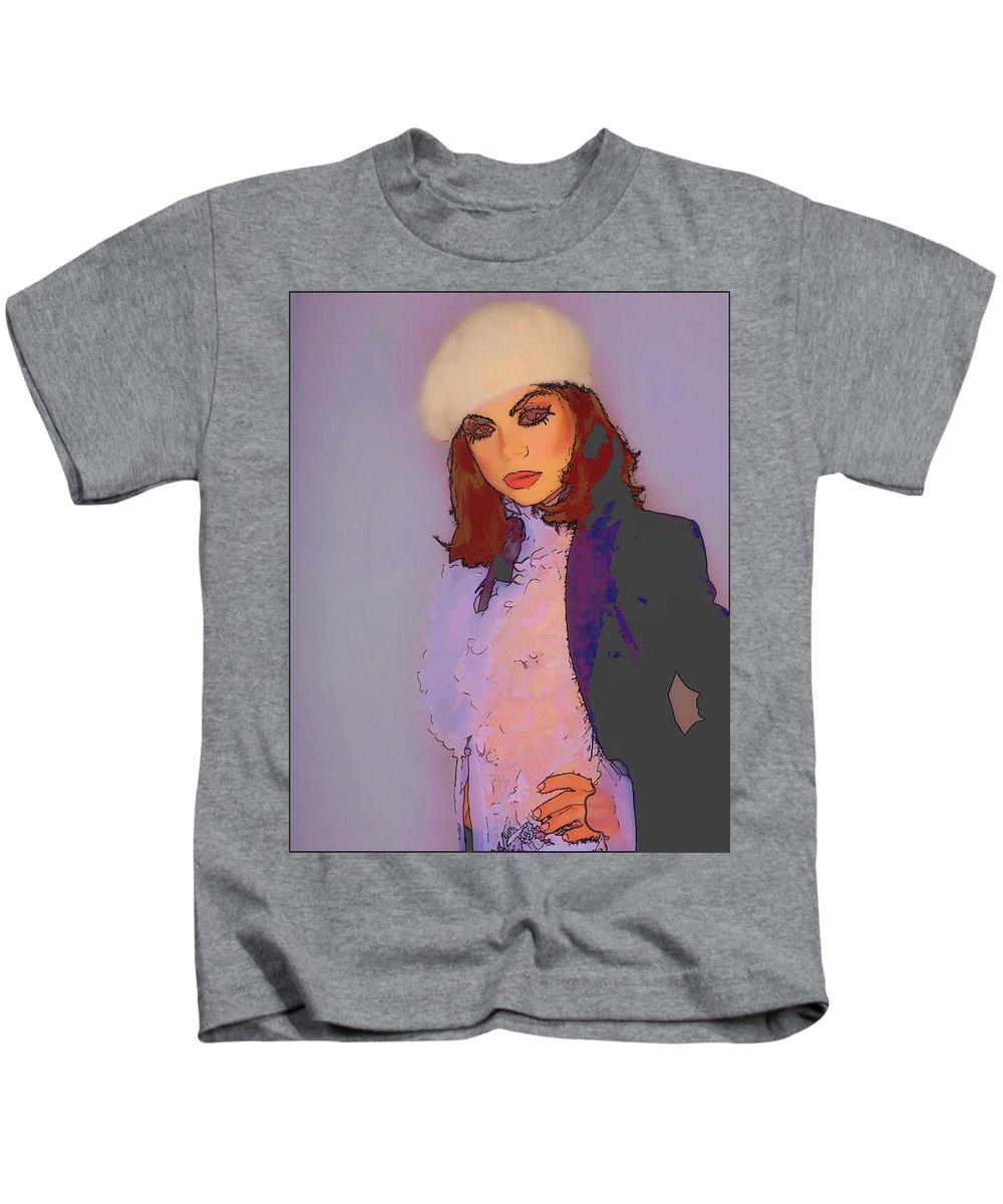 Seminude Kids T-Shirt featuring the photograph Disdain by Hugh Smith