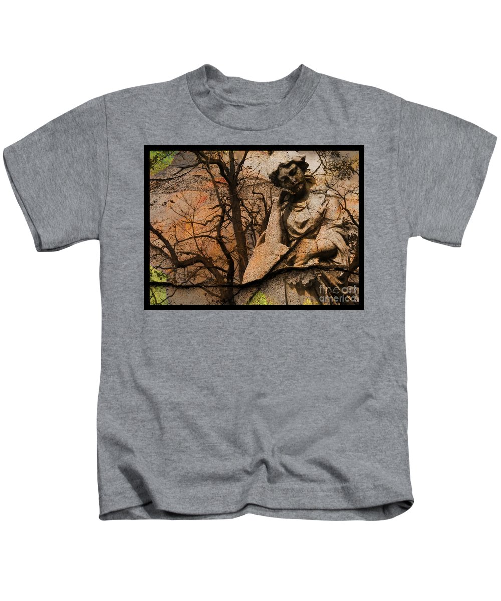 Disillusion Kids T-Shirt featuring the digital art Disillusion by Elizabeth McTaggart