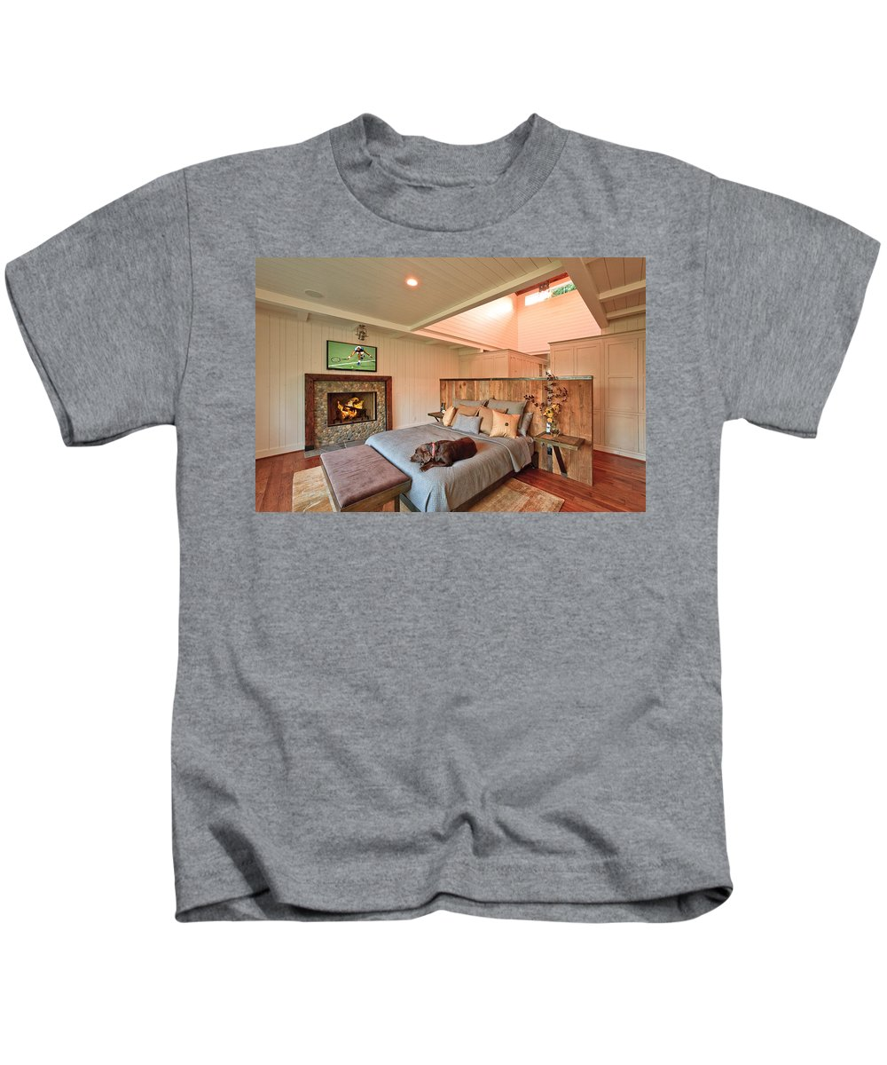 Dog Kids T-Shirt featuring the photograph Dog In Luxury by Mike Penney