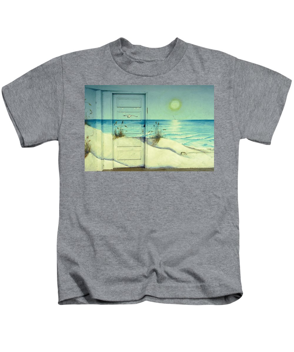 Architecture Kids T-Shirt featuring the photograph Door Of Perception by Skip Hunt