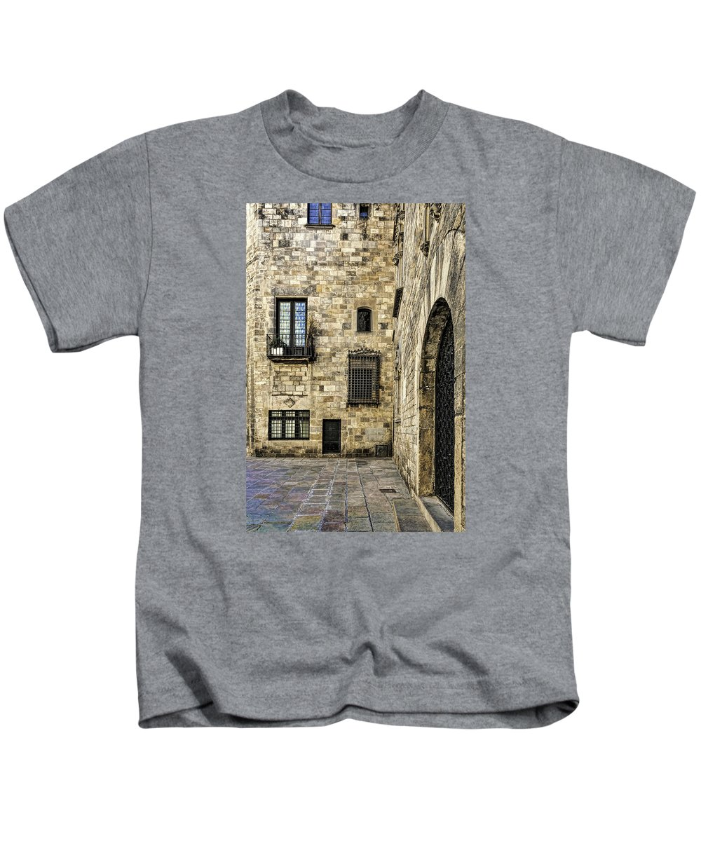 City Kids T-Shirt featuring the photograph Doors And Windows by Maria Coulson