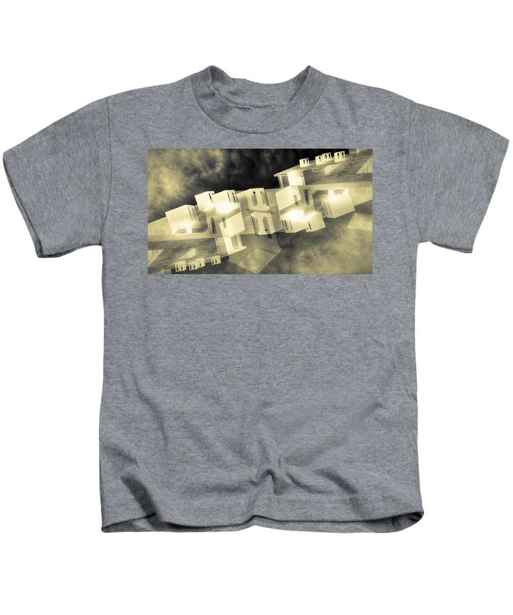 Dream City Kids T-Shirt featuring the photograph Dream City by Wayne Sherriff