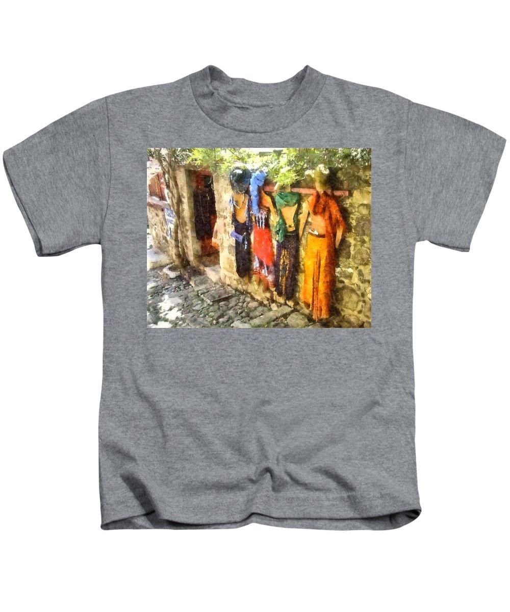 Art Kids T-Shirt featuring the digital art Dresses by Roy Pedersen