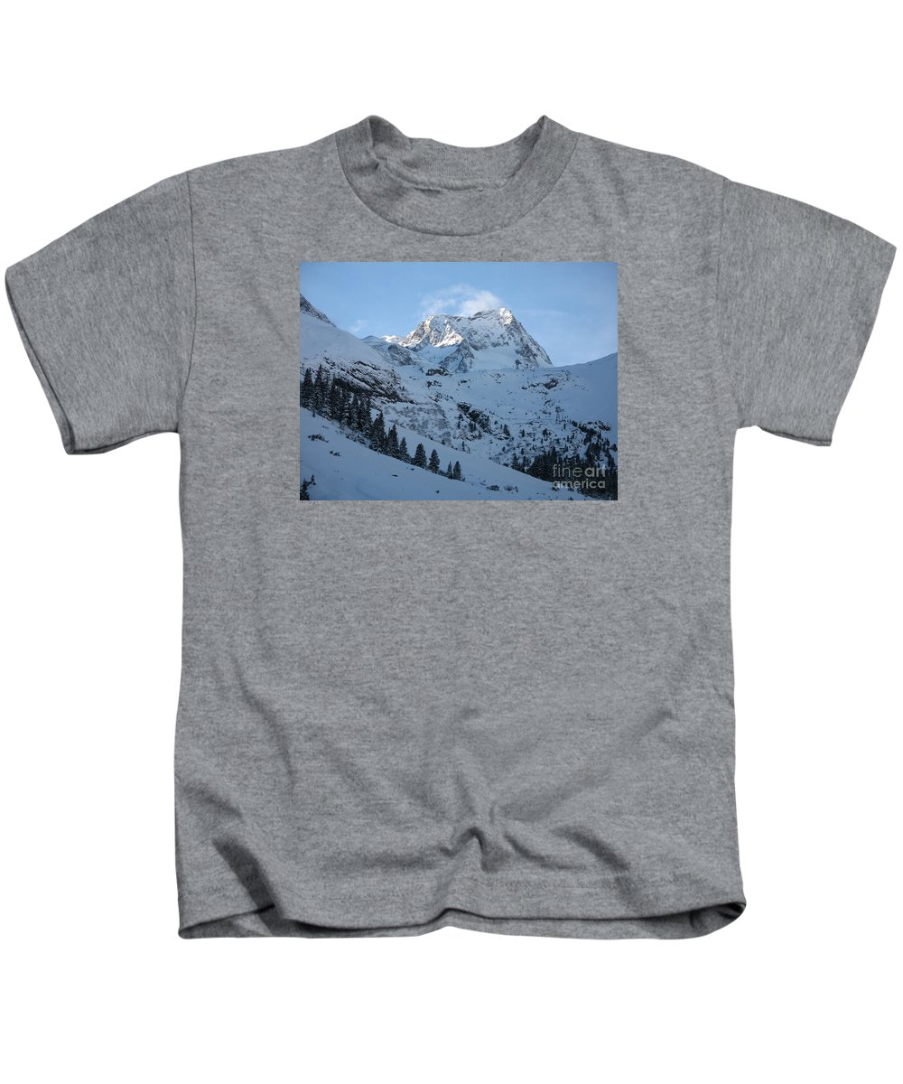 Snow Kids T-Shirt featuring the photograph Drifting Snow by Christiane Schulze Art And Photography