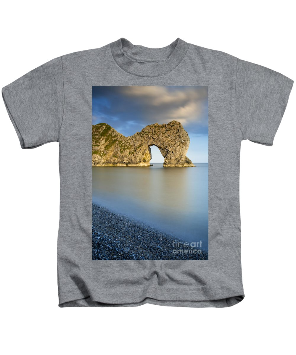 Arch Kids T-Shirt featuring the photograph Durdle Door Sunset by Brian Jannsen