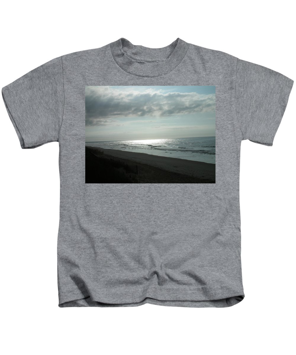 Beach Kids T-Shirt featuring the photograph Early Morning On The Beach by Christopher Westbrook