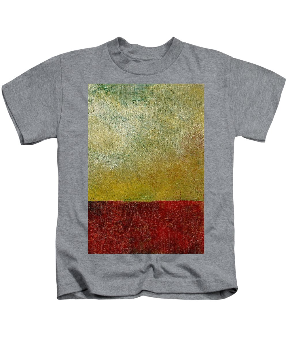 Abstract Landscape Kids T-Shirt featuring the painting Earth Study One by Michelle Calkins