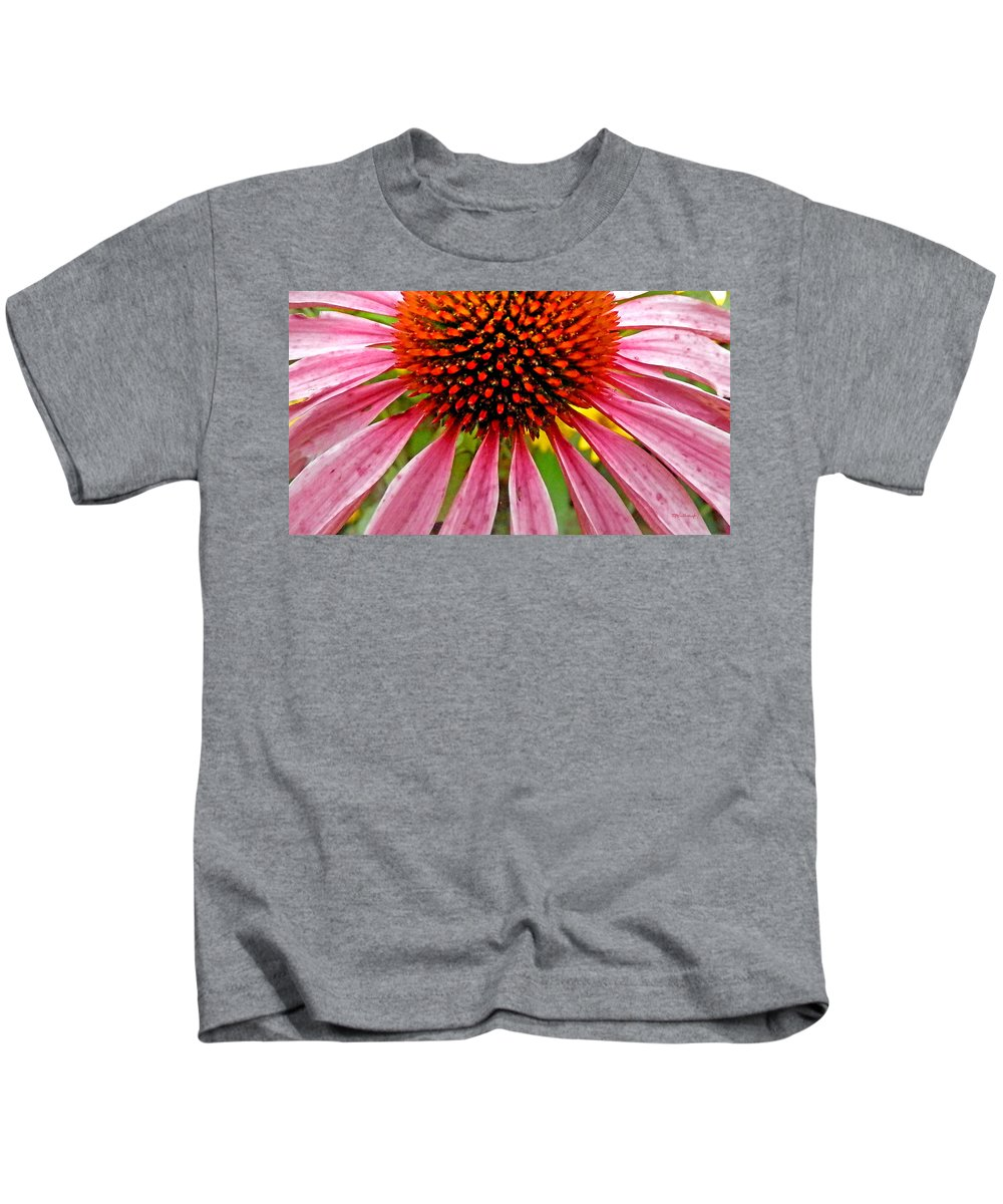 Duane Mccullough Kids T-Shirt featuring the photograph Echinacea Flower Upclose Filtered by Duane McCullough