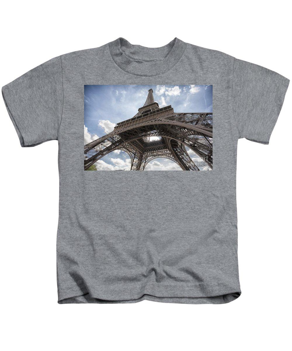 Eiffel Tower Kids T-Shirt featuring the photograph Eiffel Tower by Sheila Smart Fine Art Photography