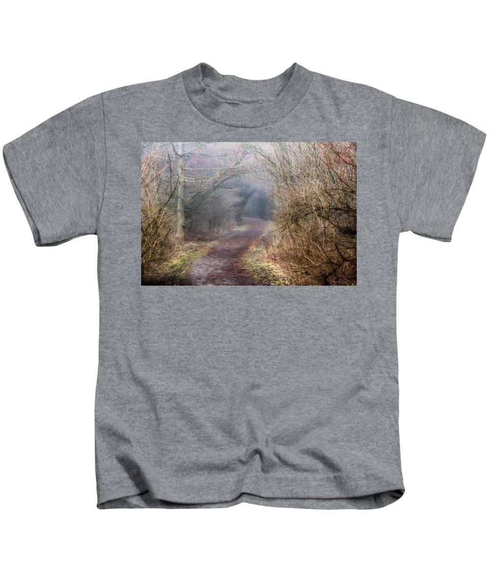 Path Kids T-Shirt featuring the photograph Enchanted Pathway by Davandra Cribbie