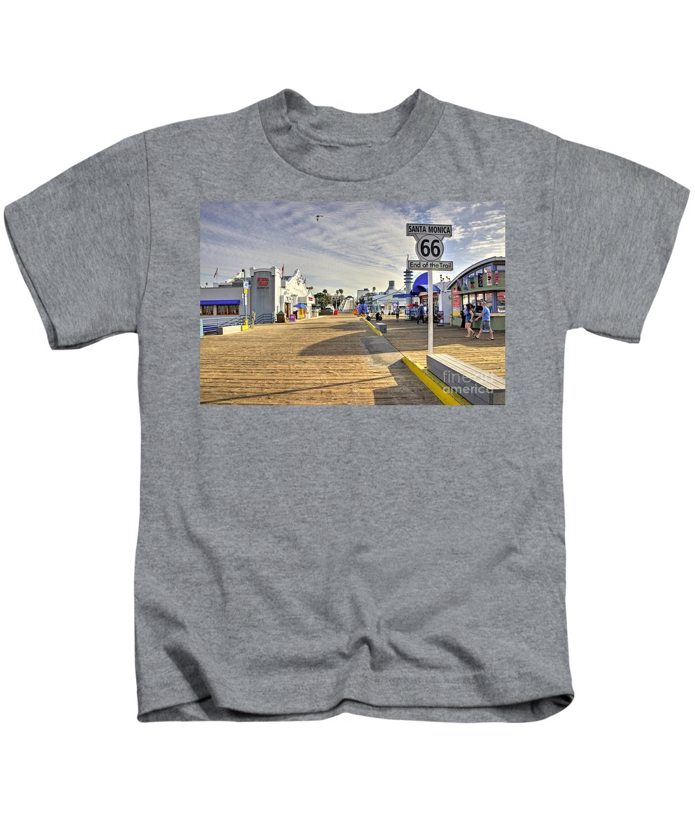 Route Kids T-Shirt featuring the photograph End Of The Trail by Rob Hawkins